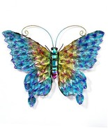 "23""  Stunning Metal Butterfly Design Wall Plaque - Blue, Orange, Purple,... - $98.99"