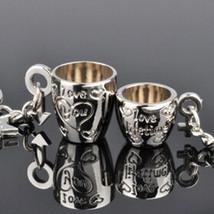 Keychain 1pair 3D Couple Love Cup Heart - $5.99+