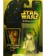 1998 STAR WARS THE POWER OF THE FORCE PRINCESS LEIA FIGURE - $2.97