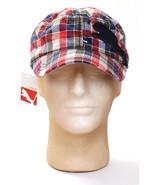Puma Red White Blue Plaid Bradley Military Adjustable Cap Hat Adult One ... - $25.98