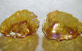 Carnival Glass Iridiscent loganberry Candy / Serving Dish - $12.00