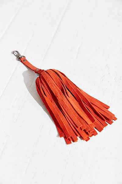 Leather Tassel Keychain Urban Outfitters Key Whip Blk Turq Cinn Chart.