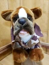 "Build A Bear Workshop 2005 Kennel Pal Boxer Plush Dog 14"" in Camo Shirt & Pants - $35.63"
