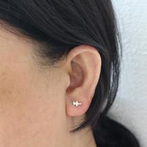 Custom Soundwave Sonogram Stud Earring - $32.00