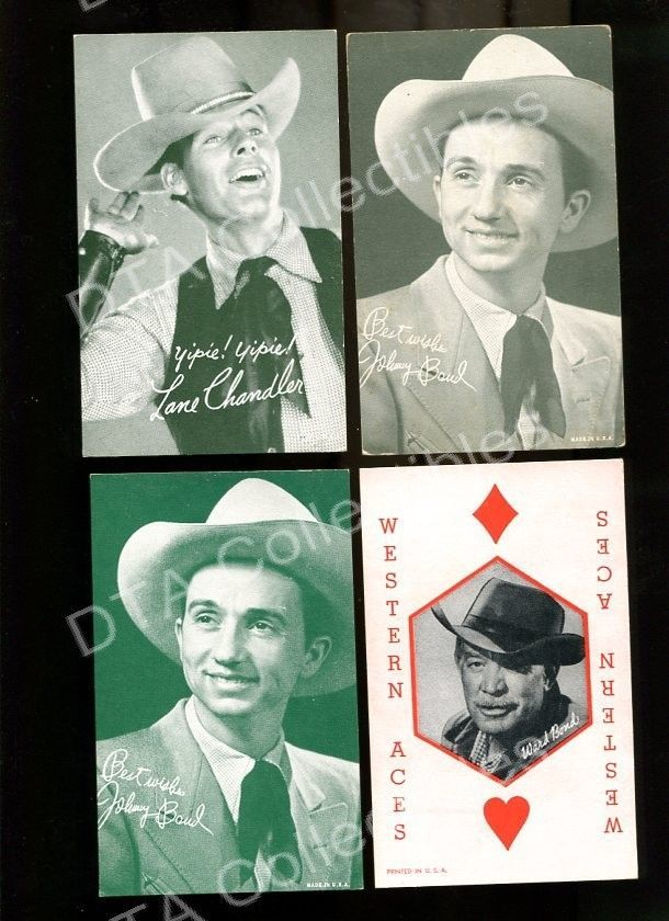 Primary image for JOHNNY BOUD/LANE CHANDLER/WARD BOND-ARCADE CARD-WESTERN FR/G