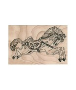 NEW Carousel Horse RUBBER STAMP, Horse Stamp, Carnival Stamp, Merry Go R... - $13.33