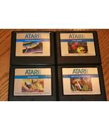 Atari 5200 Lot Of 4 Games. PAC-MAN, SUPER BREAKOUT, GALAXIAN, MISSLE COM... - $29.69
