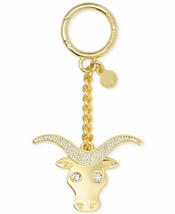 NWT Michael Kors Women's Zodiac Taurus Rhinestone Fashion Keychain, Gold - $24.45