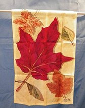 Fall leaves on a yellow background 12.5 x 18 Garden Flag  - $12.06