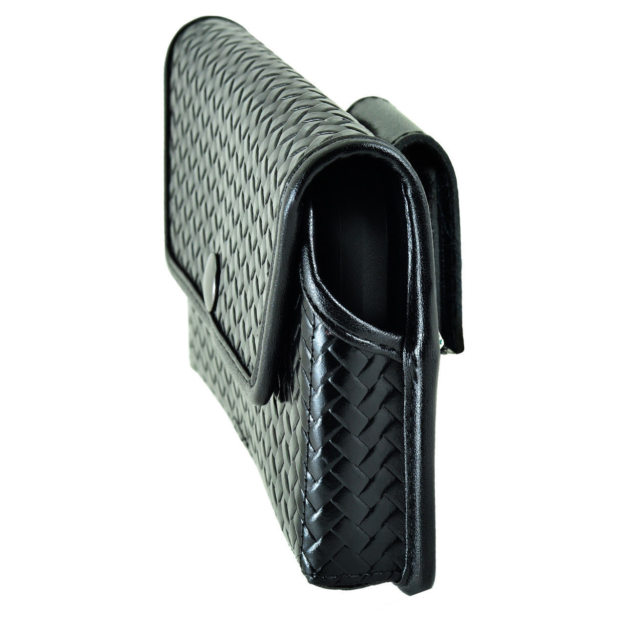 Genuine Leather Basket Weave Rugged Case fits Alcatel Cameo X (AT&T) with a