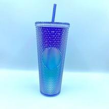 New Starbucks 2021 Summer Purple Blue Ombré Bling Studded Tumbler Cup - $75.99