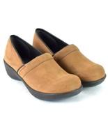 Sanita Brown Nubuck Leather Nursing Clogs Occupational Shoes Womens 6.5 ... - $39.59