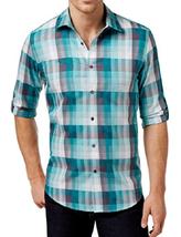 Aflani Men's Owen Plaid Long-Sleeve Shirt, Size S, MSRP $55 - $27.71