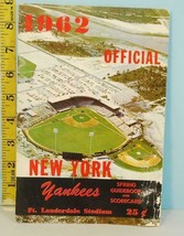 1962 New York Yankees Spring Score Book Ft. Lauderdale FL. - $16.34