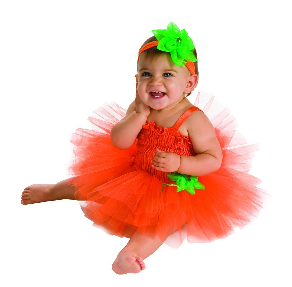 Primary image for  Infant Pumpkin Tutu Dress 6-9 Months Halloween Costume