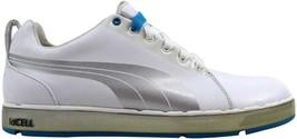 Puma HC Lux White/Puma Silver-Vivid Blue 185831 01 Men's SZ 7.5 - $61.56