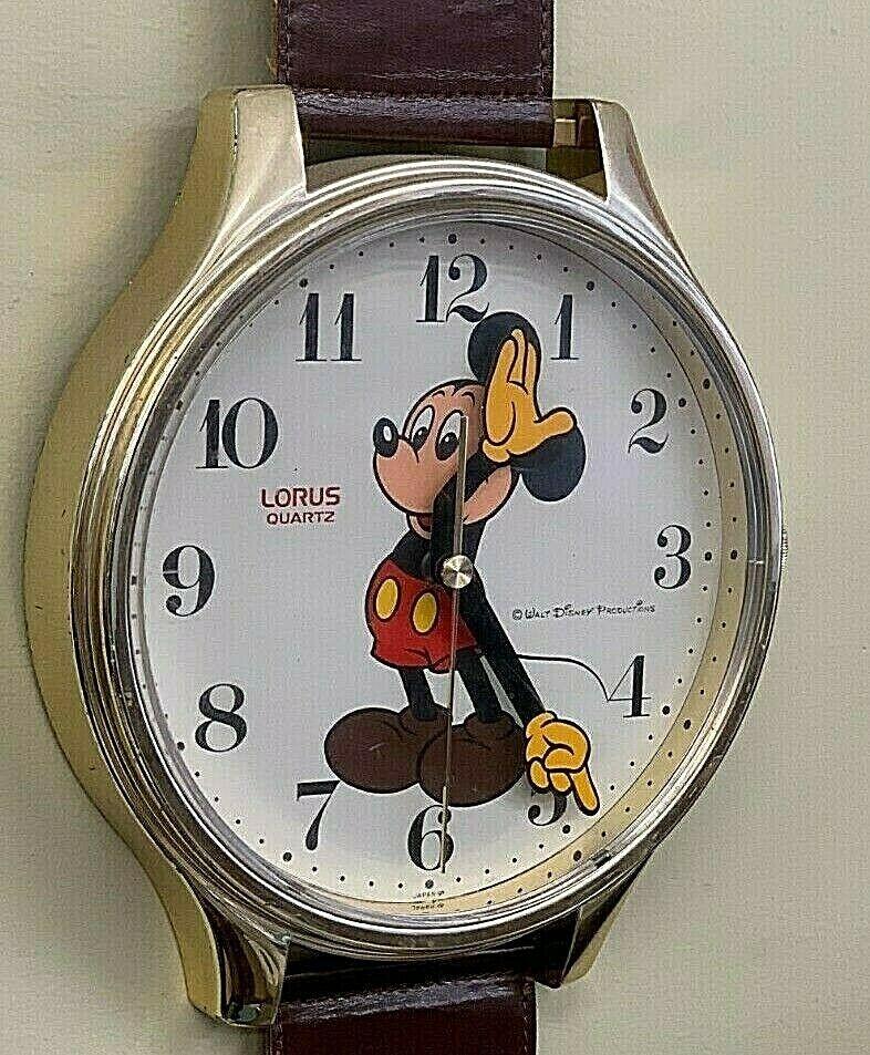 Mickey Mouse Walt Disney Original Vintage wall clock watch LORUS LFW618B image 2