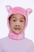Child size Piglet accessory kit costume dress up hood with ears and nose - $9.99