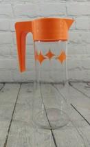 Vintage Retro Anchor Hocking L-4027 1 Quart Glass Juice Pitcher With Fli... - $29.69