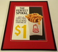 2010 Arby's Curly Fries Framed 11x14 ORIGINAL Advertisement - $32.36