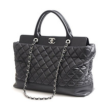 Authentic Chanel Matelasse Chain Tote Bag with Handles Calf Black F/S Japan - $3,480.84