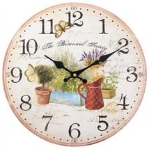 MDF Shabby Botanical Society Wall Clock; 75711 - $18.20