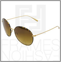 OLIVER PEOPLES BLONDELL Gold Titanium Brown Polarized Round Sunglasses OV 1102ST image 9