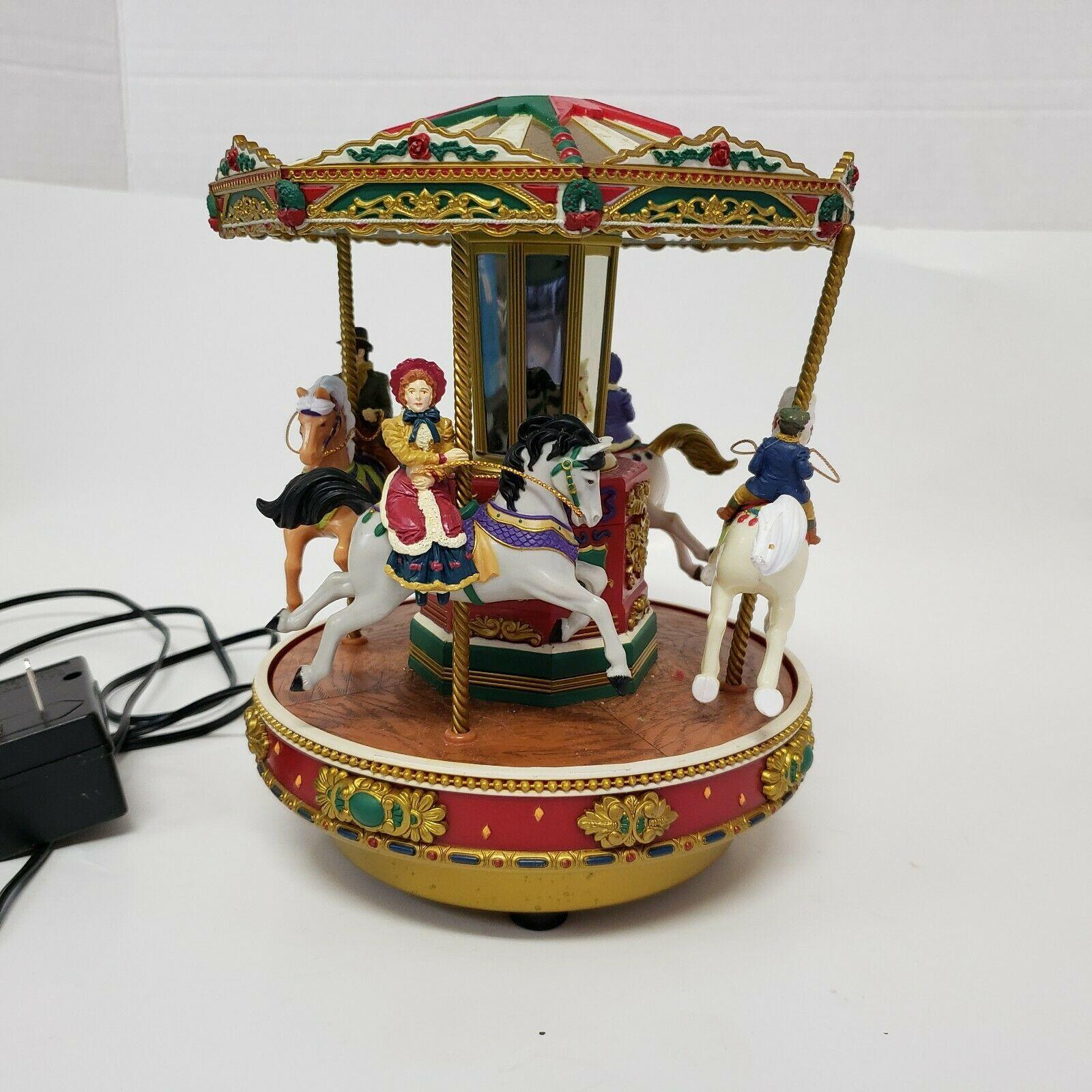 Mr. Christmas Christmas Go Round Musical Carousel #29107 vintage 1997 - $24.99