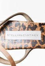 Stella Platform Tan Heel Cork McCartney SZ Leopard Sandals Black 40 Wedge Print ppBxrq