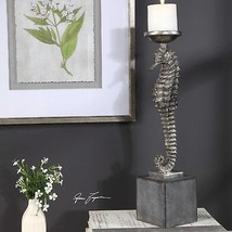 "New Coastal Beach House Living Decor 19"" Seahorse Pillar Candle Holder - $125.40"