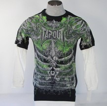 TapOut Vintage Black Graphic Layered Sleeve Shirt Youth Boy's   NWT - $26.24