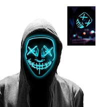 Halloween LED Mask Rave Light UP for Festival Cosplay Halloween Costume ... - $18.56