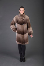 Luxury gift/Grey Brown Beaver Fur Coat / Wedding,or anniversary present/... - $1,250.00