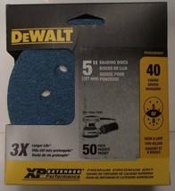 """Dewalt DWAS58040CP 5"""" XP 40 Grit Zirconium Sanding Discs 5 or 8 Hole 50 Pack - $11.88"""