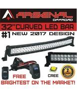 "No1 32"" Curved Arsenal Offroad LED Light Bar 30"" of LED's Flood/Spot Com... - $97.96"