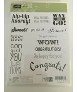 Stampin Up Bravo Clear Stamps Wow Way to Go Congratulations Card Sentime... - $13.99