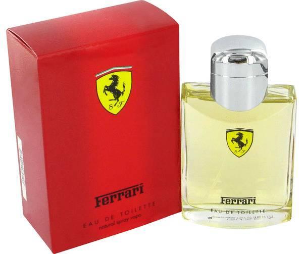 Ferrari red cologne
