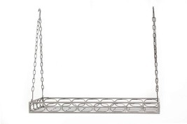 Old Dutch Rectangular Hanging Pot Rack with 16 Hooks, Antique Pewter, 36... - $79.86