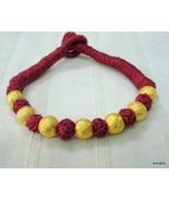 vintage 22k gold beads bracelet bangle cuff gold jewellery - $197.01