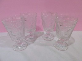 Vintage Style Easter Bunny Rabbit Knobby Clear Goblets Drinking Glasses ... - $56.99