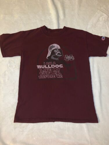 Primary image for Champion Size Medium 8 Mississippi State Bulldogs Star Wars Darth Vader T Shirt