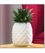 Avon Pineapple Design Ceramic Planter White Pot for Succulent Cactus Cac... - $24.25