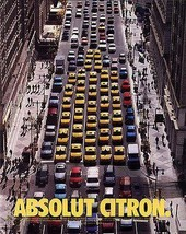 TAXI Absolut Citron Bottle FUN 2000 AD Yellow Cabs Swedish Absolut Vodka - $14.99