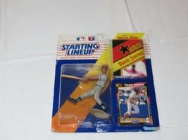 1992 Starting Lineup David Justice Atlanta Bra action figure Kenner MLB card NOS - $10.68