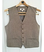 JOSEPH ABBOUD Men's Modern Fit Button Up Vest HD3 Taupe Tall SIZE L - $41.67