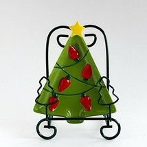 Christmas Tree Small Ceramic Candy Plate or Bowl Decoration by Hallmark - $9.49