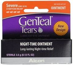 GenTeal Tears Lubricant Eye Ointment, Night-Time Ointment 0.12 oz