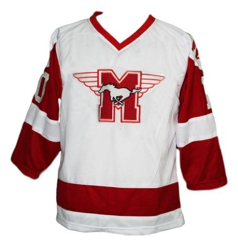 Youngblood movie hamilton mustangs hockey jersey white  1