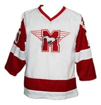 Custom Name # Youngblood Movie Hamilton Mustangs Hockey Jersey White Any Size image 1