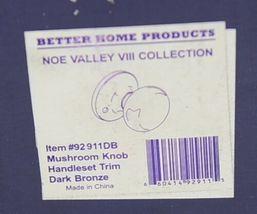 Better Home Products 92911DB Mushroom Knob Handleset Trim Dark Bronze image 8